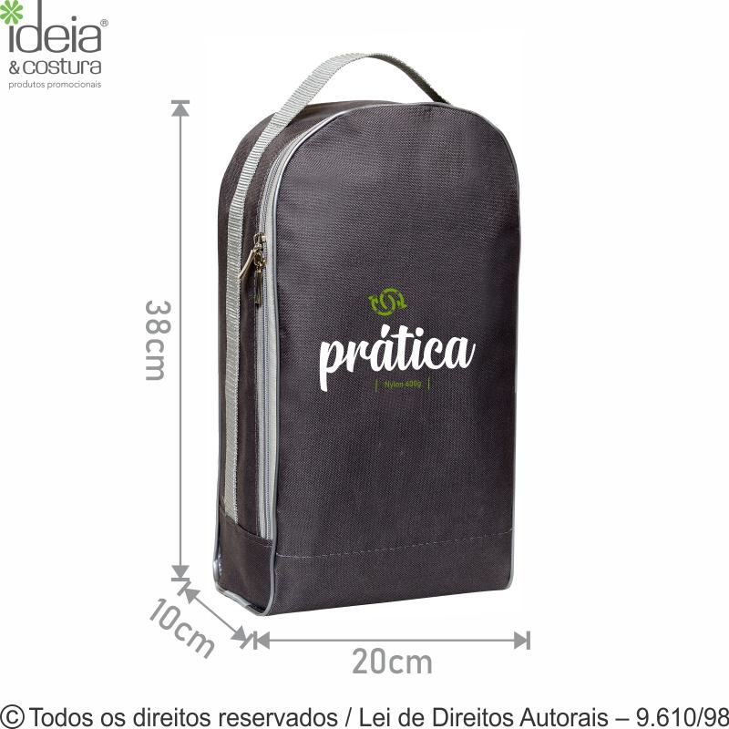 PORTA CALCADOS DE NYLON 20X38X10CM 92N - A