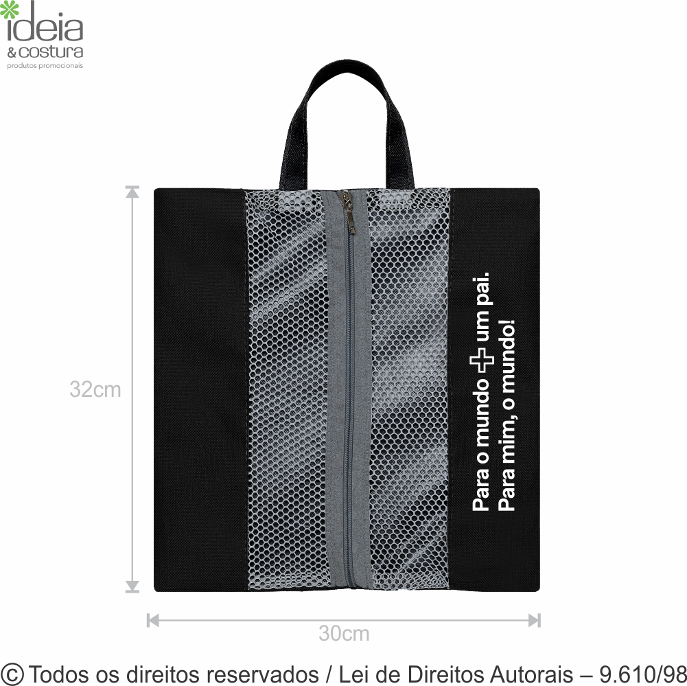 PORTA CHINELOS DE NYLON 600G 30X32CM N34