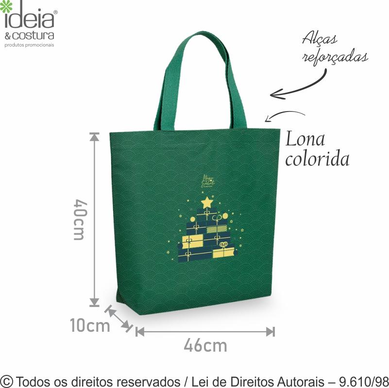 SACOLA DE LONA COLORIDA 46X40X10CM 2LC